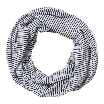 Unisex Insect Shield® Infinity Scarf - Blue Navy Stripe