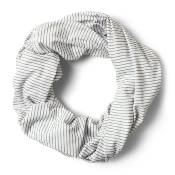 Unisex Insect Shield® Infinity Scarf - Soft Grey Marl Stripe