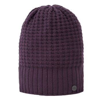 Unisex Brompton Waffle Knit Beanie Hat - Thistle