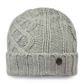 Unisex Dolan Knit Hat - Soft Grey Marl