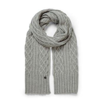 Unisex Dolan Knit Scarf - Soft Grey Marl