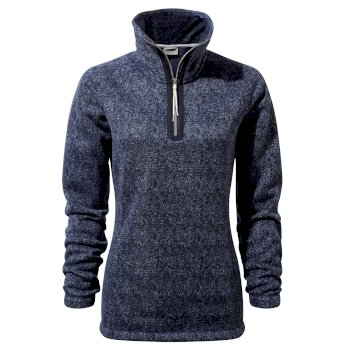 Braemar Half-Zip Fleece - Blue Navy Marl