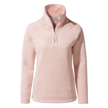 Braemar Half-Zip Fleece - Blossom Pink Marl