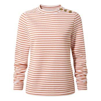 Balmoral Crew Neck Soft Apricot Stripe