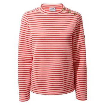 Balmoral Crew Neck - Rio Red Stripe