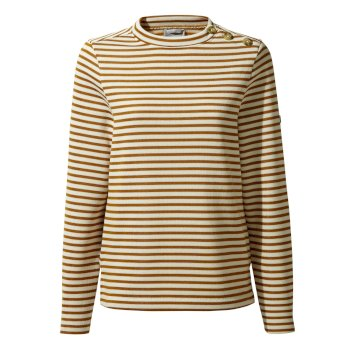 Balmoral Crew Neck Top  - Spiced Copper Stripe