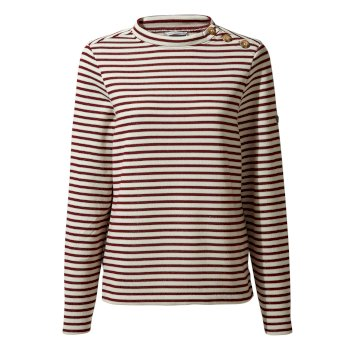 Women's Balmoral Crew Neck Top  - Wildberry Stripe