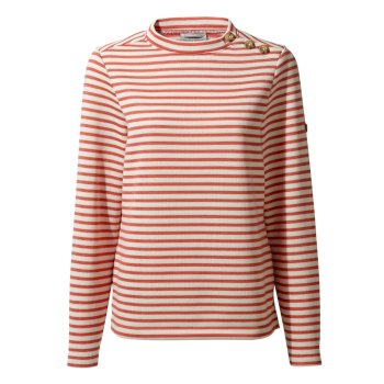 Balmoral Crew Neck - Alpen Rose Stripe