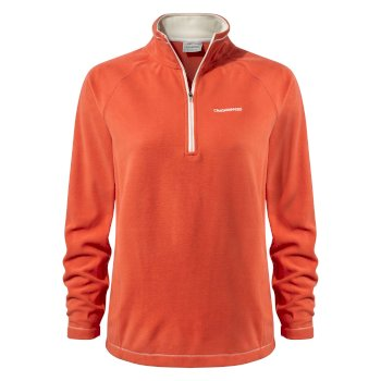 Women's Miska V Half-Zip Fleece - Warm Ginger