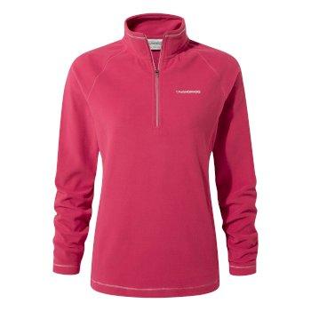 Miska V Half-Zip Fleece - Vivacious Pink