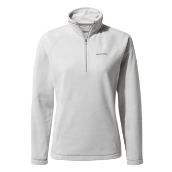 Miska V Half-Zip Fleece - Dove Grey