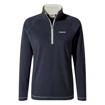 Miska V Half-Zip Fleece - Blue Navy