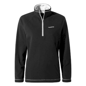 Women's Miska V Half-Zip Fleece - Black