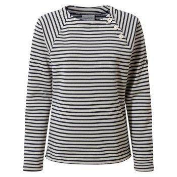 Women's Neela Crew Neck - Blue Navy Stripe
