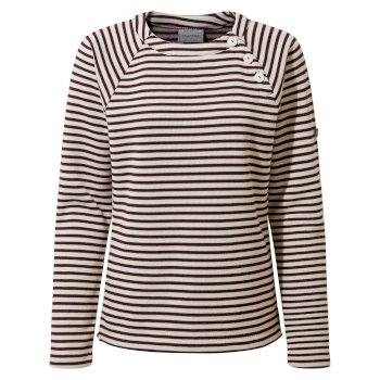 Women's Neela Crew Neck - Potent Plum Stripe