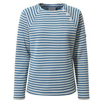 Women's Neela Crew Neck - Persian Blue Stripe