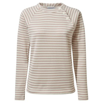 Women's Neela Crew Neck - Brushed Lilac Stripe