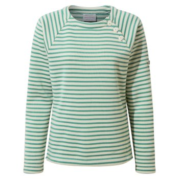 Women's Neela Crew Neck - Peppermint Stripe