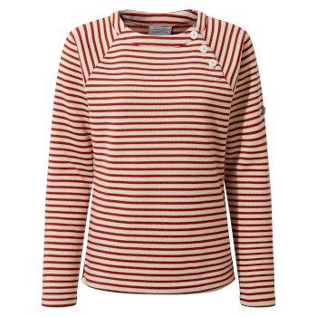 Neela Crew Neck - Vintage Red Stripe