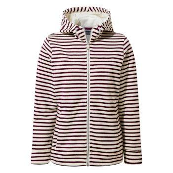 Amelie Hooded Jacket - Potent Plum Stripe