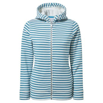 Women's Amelie Hooded Jacket - Mediterraean Blue Stripe