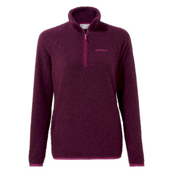 Women's Priya Half Zip - Blackcurrant