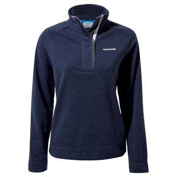 Women's Helena Half Zip - Blue Navy Marl