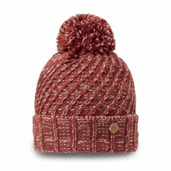 Nora Knit Bobble Hat - Redwood Cmbo