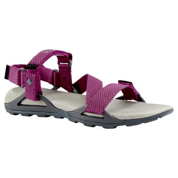 Lady Locke Sandal - Charcoal / Raspberry