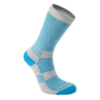 Heat Regulating Travel Sock  - Aegean Blue / Dove Grey