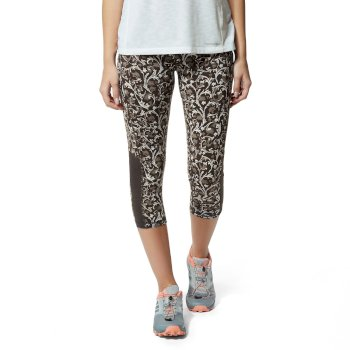 NosiLife Luna Cropped Tight - Charcoal / Dove Grey Print
