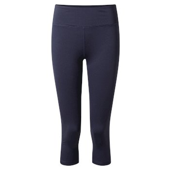 Women's Insect Shield® Luna Cropped Tight - Blue Navy