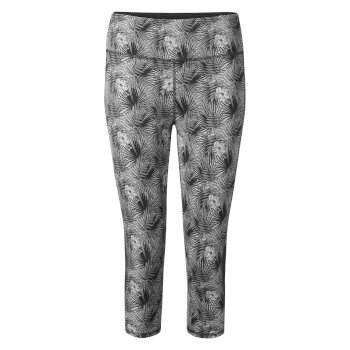 Insect Shield® Luna Cropped Tight - Cloud Grey Print