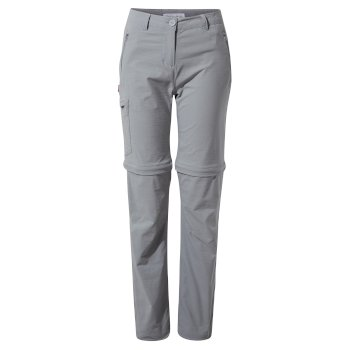 Women's Insect Shield® Pro II Convertible Pants - Cloud Grey