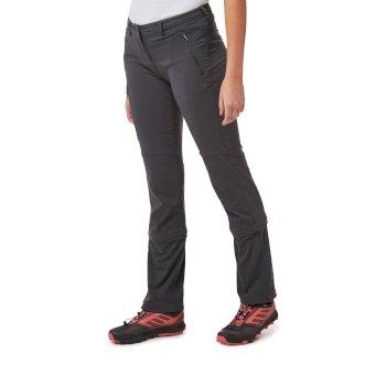 NosiLife Pro II Capri Convertible Trousers - Charcoal