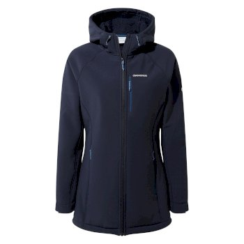 Women's Ara Weatherproof Hooded Jacket - Blue Navy