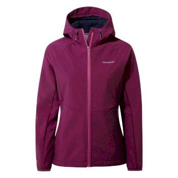Kalti Weatherproof Hooded Jacket - Blackcurrant