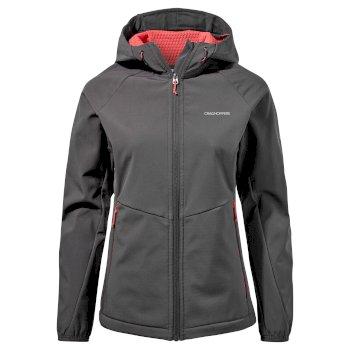 Kalti Weatherproof Hooded Jacket - Charcoal / Watermelon