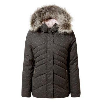 Dawa Hooded Jacket - Charcoal Print