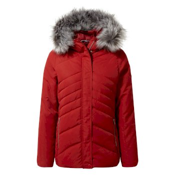 Women's Dawa Hooded Jacket - Vintage Red