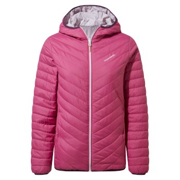 Compresslite V Hooded Jacket - Raspberry
