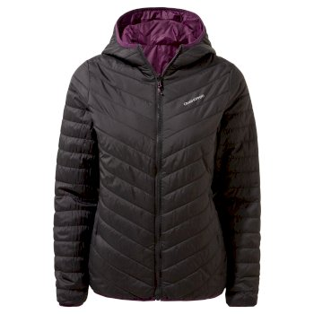 Compresslite V Hooded Jacket - Black / Potent Plum