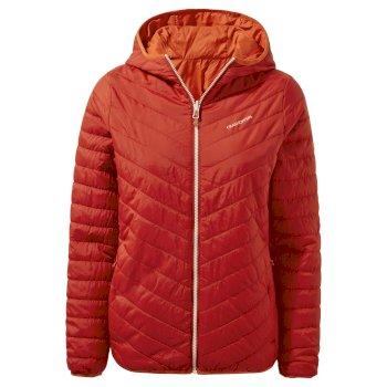 Compresslite V Hooded Jacket - Vintage Red