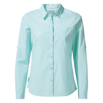 Women's Kiwi Long-Sleeved Shirt - Capri Blue