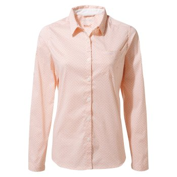 Insect Shield Verona Long-Sleeved Shirt - Rosette Print