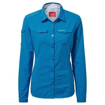 NosiLife Adventure II Long-Sleeved Shirt - Mediterranean Blue