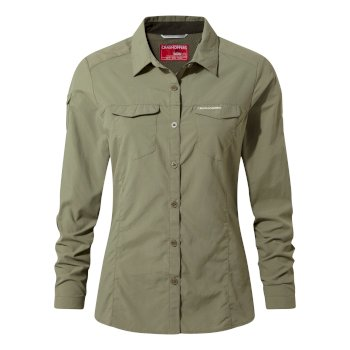 Women's Insect Shield® Adventure II Long-Sleeved Shirt - Soft Moss