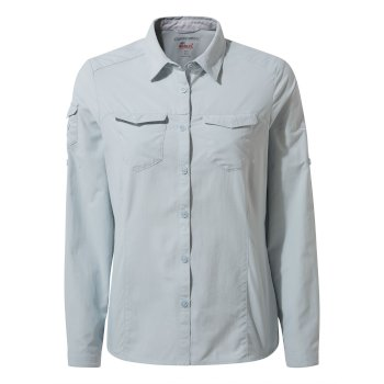 Women's Insect Shield® Adventure II Long-Sleeved Shirt - Mineral Blue