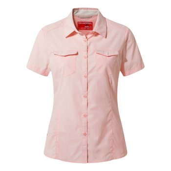 Women's Insect Shield® Adventure II Short-Sleeved Shirt  - Seashell Pink