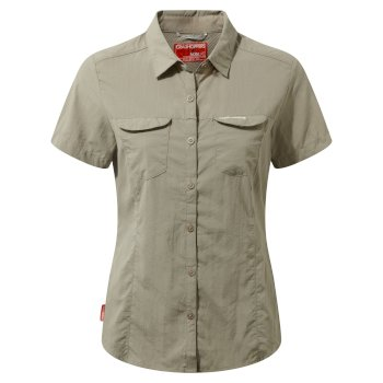 Women's Insect Shield® Adventure II Short-Sleeved Shirt  - Mushroom